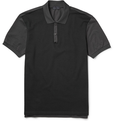 Lanvin Two-Tone Panelled Polo Shirt