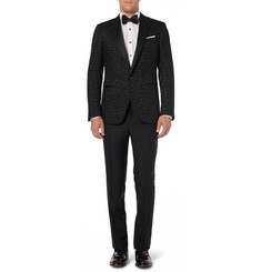 Lanvin Slim-Fit Wool and Mohair-Blend Tuxedo Trousers