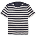 Lanvin - Striped Cotton and Taffeta T-Shirt