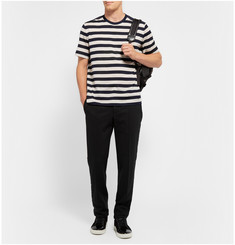 Lanvin Striped Cotton and Taffeta T-Shirt