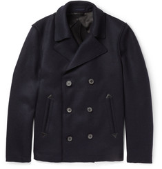Lanvin Raw-Edged Wool-Blend Peacoat