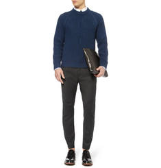 Lanvin Tapered Wool and Cashmere-Blend Biker Trousers