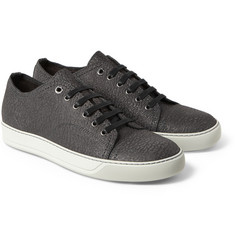 Lanvin Textured-Leather Sneakers