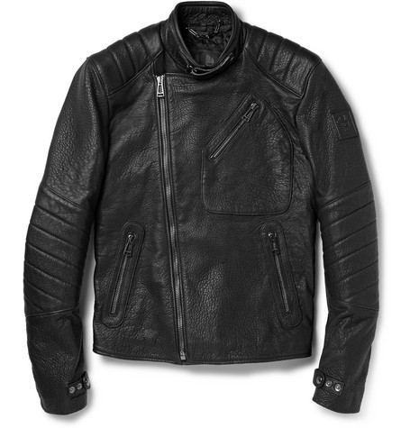 Belstaff Kendal Textured-Leather Biker Jacket