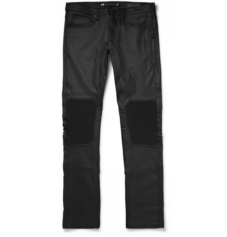 Belstaff Blackrod Slim-Fit Coated Denim Biker Jeans