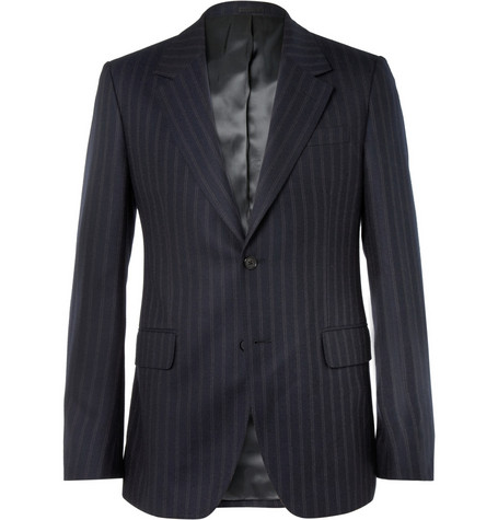 Alexander McQueen Navy Slim-Fit Wool and Cashmere-Blend Suit Jacket