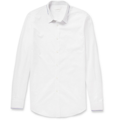 Alexander McQueen Stripe-Trimmed Cotton Shirt