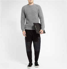 Alexander McQueen Silk-Panelled Cotton-Blend Cargo Trousers