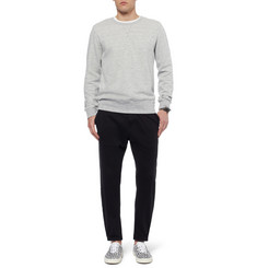 Alexander McQueen Raw-Edged Cotton-Blend Jersey Sweatshirt