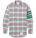 Thom Browne - Button-Down Collar Check Check Cotton Shirt