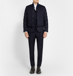 Thom Browne Lightly-Quilted Wool and Cashmere Gilet