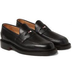 Thom Browne Pebbled Leather Penny Loafers