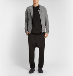 Rick Owens Distressed-Suede Bomber Jacket