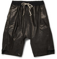 Rick Owens - Drop Crotch Leather Shorts