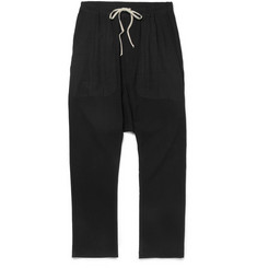 Rick Owens Tapered Lightweight Wool-Blend Crepe Trousers