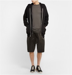 Rick Owens Oversized Boiled-Cashmere Hoodie