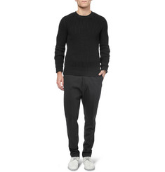 Rick Owens Chunky-Knit Wool Crew Neck Sweater