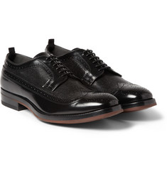 Alexander McQueen Contrast-Panel Leather Derby Brogues