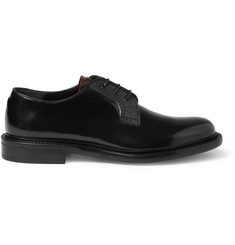 Alexander McQueen Contrast-Trim Leather Derby Shoes