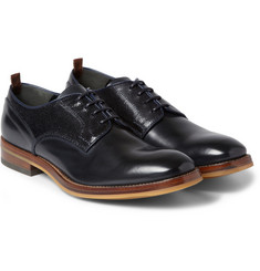 Alexander McQueen Contrast-Panel Leather Derby Shoes