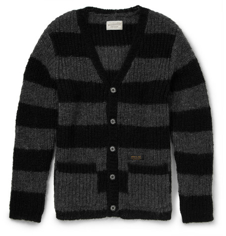 Neighborhood Striped Mohair-Blend Cardigan