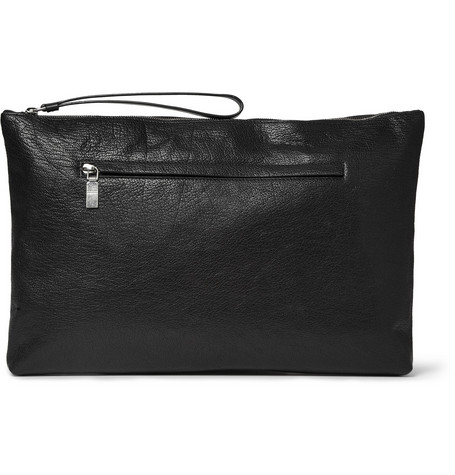 Alexander McQueen Full-Grain Leather Pouch