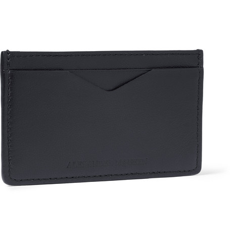 Alexander McQueen Embossed-Leather Cardholder