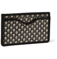 Alexander McQueen - Skull-Print Canvas and Leather Cardholder
