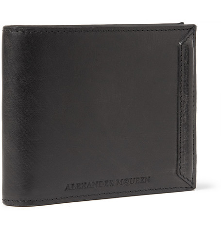 Alexander McQueen Washed-Leather Billfold Wallet