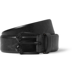 Alexander McQueen 3.5cm Black Skull-Buckled Leather Belt