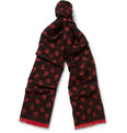 Alexander McQueen - Skull-Patterned Wool and Silk-Blend Scarf