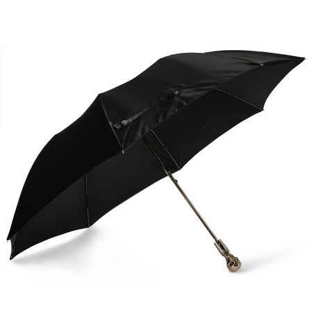 Alexander McQueen Skull-Handle Automatic Collapsible Umbrella
