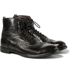 Officine Creative Leather Brogue Boots