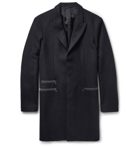 Neil Barrett Slim-Fit Herringbone Wool Overcoat