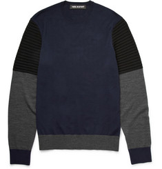 Neil Barrett Colour-Block Wool Sweater