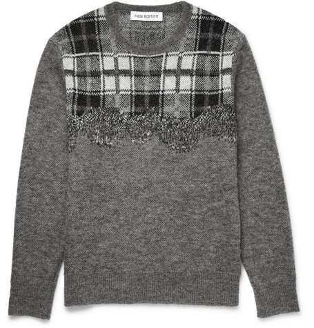 Neil Barrett Checked Knitted Sweater