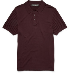 Neil Barrett Knitted Merino Wool Polo Shirt
