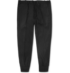 Neil Barrett Cropped Cuffed Wool-Blend Trousers
