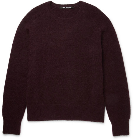 Neil Barrett Textured-Knit Crew Neck Sweater