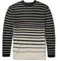 McQ Alexander McQueen - Striped Wool and Mohair-Blend Sweater
