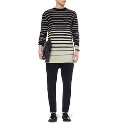 McQ Alexander McQueen Striped Wool and Mohair-Blend Sweater