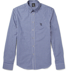 McQ Alexander McQueen Navy Check Cotton Shirt