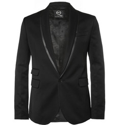 McQ Alexander McQueen Black Slim-Fit Twill Tuxedo Jacket