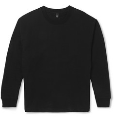 McQ Alexander McQueen Oversized Side-Zipped Cotton-Blend Jersey Sweatshirt
