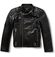 McQ Alexander McQueen Quilted Leather Biker Jacket