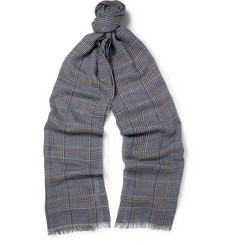 Loro Piana Prince of Wales Check Cashmere Scarf