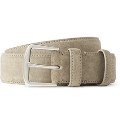 Loro Piana Grey 3.5cm Suede Belt