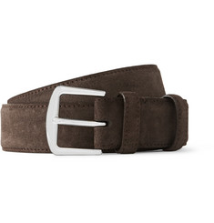 Loro Piana Dark-Brown 3.5cm Suede Belt
