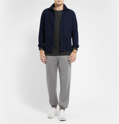James Perse Linen and Cotton-Blend Henley T-Shirt