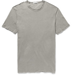 James Perse Distressed Slub Linen and Cotton-Blend T-Shirt